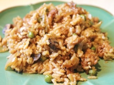 Для мультиварки: Бурый рис с грибами и овощами