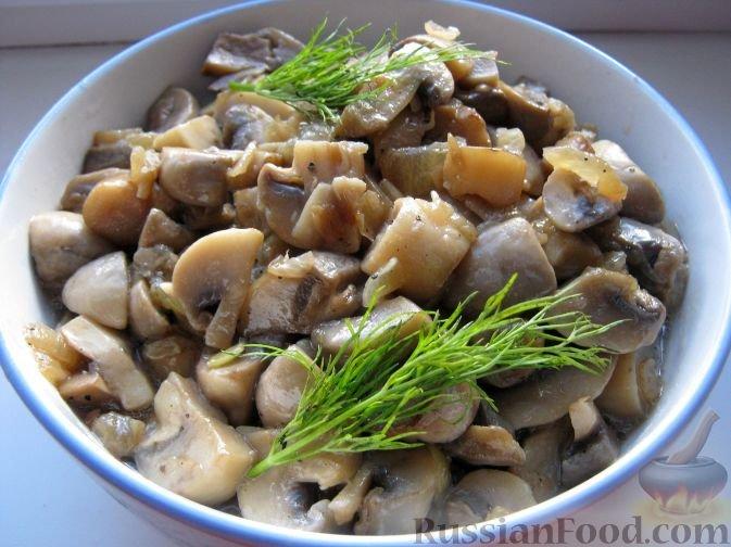 Тушеные грибы